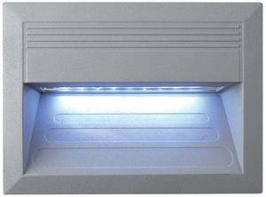 Vstavané vonkajšie LED svietidlo 135 x 180mm studená biela