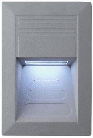 Vstavané vonkajšie LED svietidlo 135 x 90mm studená biela