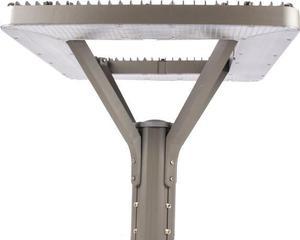 Strieborné parkové a záhradné svietidlo 40W teplá biela