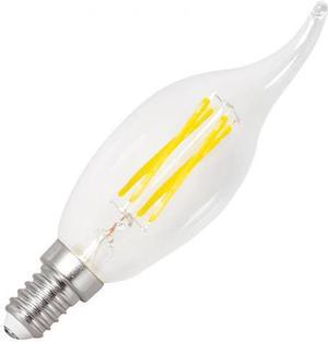 Stmievateľná LED žiarovka E14 retro 4W sviečka teplá biela