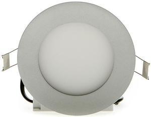 Strieborný kruhový vstavaný LED panel 145mm 10W teplá biela