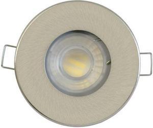 Nikl vstavané podhledové LED svietidlo 5W teplá biela IP44 230V