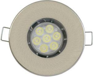 Nikl vstavané podhledové LED svietidlo 7W teplá biela IP44 230V