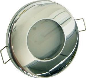 Chrom vstavané podhledové LED svietidlo 5W teplá biela IP44 230V