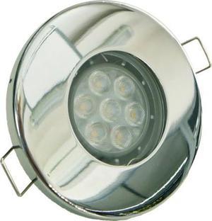 Chrom vstavané podhledové LED svietidlo 7W studená biela IP44 230V