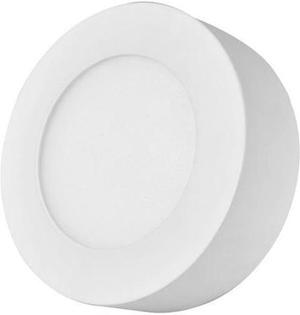 Biely kruhový prisadený LED panel 120mm 6W neutrálna biela