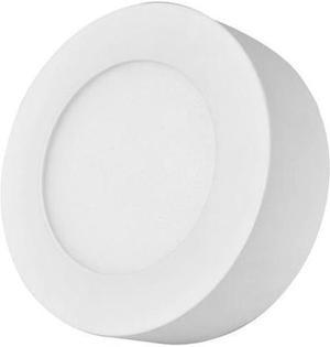 Biely kruhový prisadený LED panel 120mm 6W teplá biela
