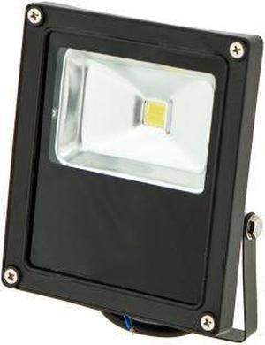 Čierny LED reflektor Daisy 10W studená biela