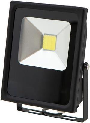 Čierny LED reflektor Daisy 20W studená biela