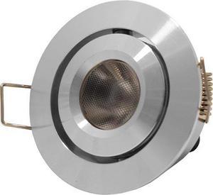 Kovové zápustné LED výklopné svietidlo 3W studená biela