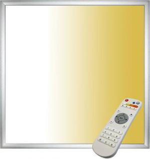 Strieborný podhledový LED panel 40W 600 x 600 s ovládačom 3000 6000K
