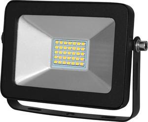 Čierny LED reflektor RB 30W studená biela