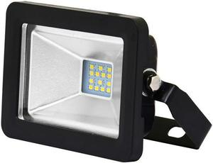 Čierny LED reflektor 10W city 5000K neutrálna biela