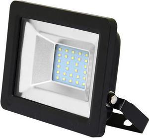 Čierny LED reflektor 20W city 5000K neutrálna biela