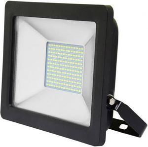 Čierny LED reflektor 50W city 5000K neutrálna biela