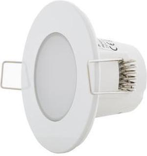 Biele vstavané podhledové LED svietidlo 5W teplá biela