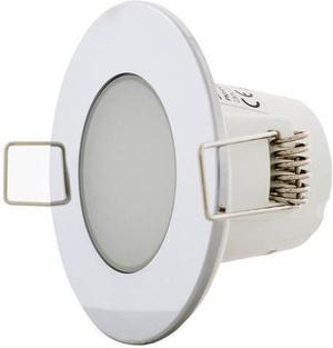 Chrom vstavané podhledové LED svietidlo 5W teplá biela