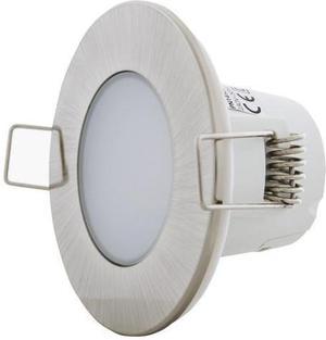 Brúsený chrom vstavané podhledové LED svietidlo 5W neutrálna biela