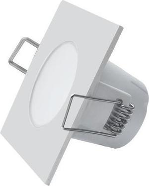 Biele vstavané podhledové LED svietidlo štvorec 5W teplá