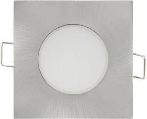 Brúsený chrom vstavané podhledové LED svietidlo štvorec 5W teplá biela