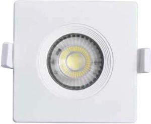 Biele vstavané podhledové LED svietidlo štvorec jimmy 7W neutrálna biela
