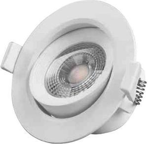 Biele vstavané podhledové LED svietidlo výklopné 7W neutrálna biela