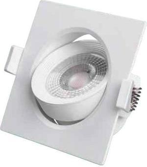 Biele vstavané podhledové LED svietidlo výklopné štvorec 7W neutrálna biela