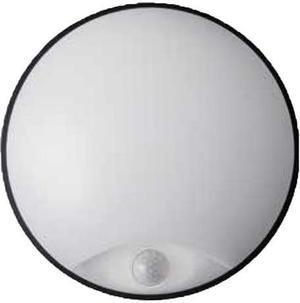 Čierne LED vonkajšie nástenné svietidlo 14W s čidlom DITA neutrálna biela