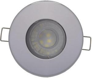 Chrom vstavané podhledové LED svietidlo 7,5W teplá biela IP44 230V
