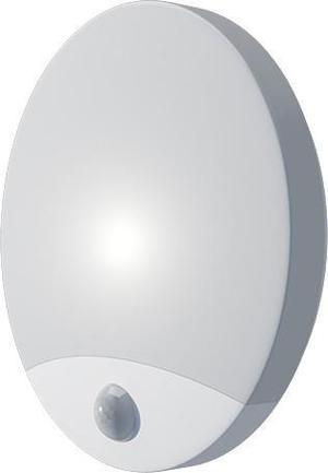 Biele LED vonkajšie nástenné svietidlo 10W biele s PIR čidlem olga neutrálna biela