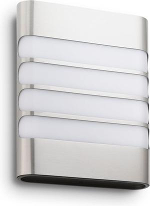 Philips LED Raccoon svietidlo vonkajšie nástenné nerez 3W selv 17273/47/16