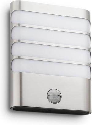 Philips LED Raccoon svietidlo vonkajšie nástenné nerez 3W selv 17274/47/16