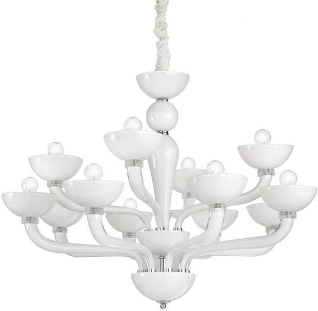 Ideal lux LED Casanova bianco luster 2x5W 94052