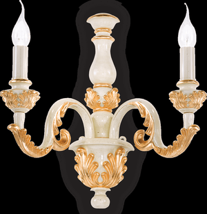 Ideal lux LED Giglio Oro nástenné svietidlo 2x5W 75280