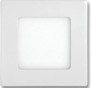 Biely vstavaný LED panel 120 x 120mm 6W teplá biela