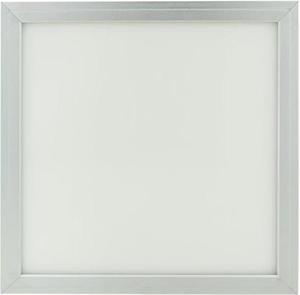 Strieborný podhľadový LED panel 300 x 300mm 18W teplá biela