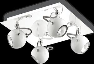 Ideal lux LED Lunare bianco závesné svietidlo 4x5W 77918