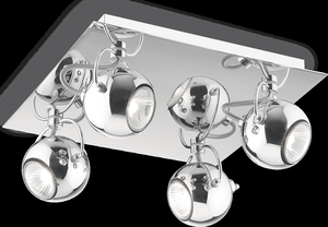 Ideal lux LED Lunare Cromo závesné svietidlo 4x5W 66820