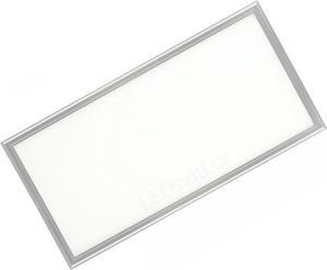 Strieborný podhľadový LED panel 300 x 600mm 30W teplá biela