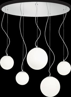 Ideal lux LED Mapa bianco závesné svietidlo 5x5W 43562