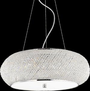 Ideal lux LED Pasha Cromo závesné svietidlo 10x5W 82196