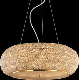 Ideal lux LED Pasha Oro závesné svietidlo 10x5W 82257