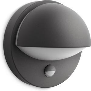 Philips LED June svietidlo vonkajšie čierna senzor 5W 16246/93/16