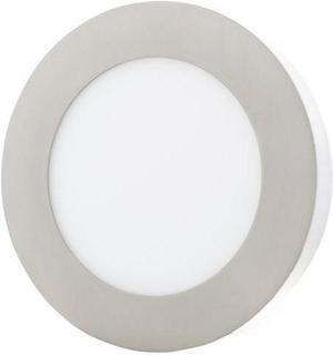 Chrómový kruhový prisadený LED panel 175mm 12W teplá biela