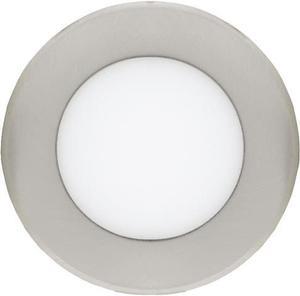Chrómový kruhový vstavaný LED panel 120mm 6W teplá biela