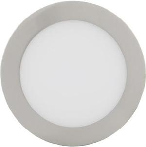 Chrómový kruhový vstavaný LED panel 175mm 12W teplá biela