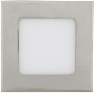 Chrómový vstavaný LED panel 120 x 120mm 6W teplá biela