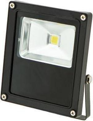 Čierny LED reflektor 24V 10W biela