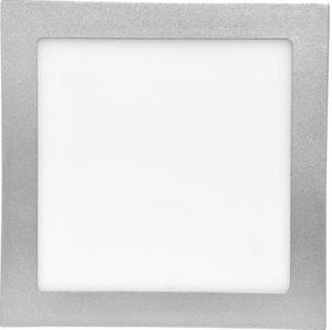 Strieborný vstavaný LED panel 155 x 155 mm 15W teplá biela