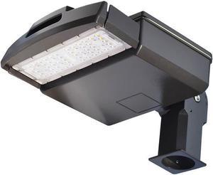 Čierne LED verejné svietidlo 50W VO neutrálna biela